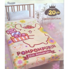 Sanrio Pom Pom Purin/pudding dog 20th anniversary blanket-yellow