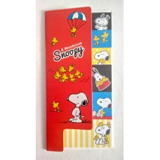 Snoopy/Peanuts & his friends index sticky memo-red