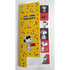 Snoopy/Peanuts & his friends index sticky memo-yellow