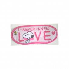 Snoopy/Peanuts eye mask-Love/pink