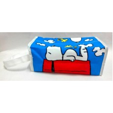 Snoopy/Peanuts and woodstock hanging tissue box/case/bag-blue
