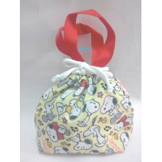 Snoopy/Peanuts tableware drawing bag/mini tote-yellow
