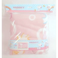 Snoopy/Peanuts thin fleece blanket for car-pink