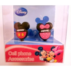 Mickey/Minne Mouse phone dust plug-A