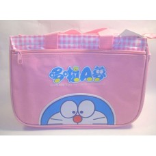 Doraemon zipper hand bag-pink