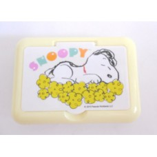 Snoopy/Peanuts tissue/cosmetic case w/mirror-yellow