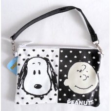Snoopy/Peanuts flat makeup/pencil/hand/phone bag-black