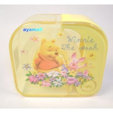 Winnie the pooh tape holder w/tape-yellow/square