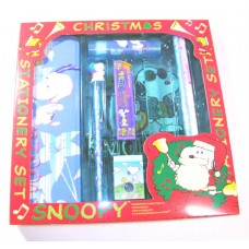 Snoopy/Peanuts Christmas stationery set-green