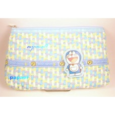 Doraemon paper-knit surface flat makeup/pencil bag