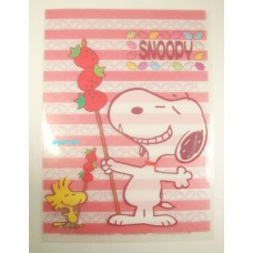 Snoopy/Peanuts A4 clean file/folder-red
