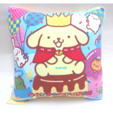 Sanrio Pom Pom Purin/pudding dog mini throw pillow/cushion-yellow/ crown