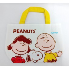 Snoopy/Peanuts tableware/hand bag/tote-yellow