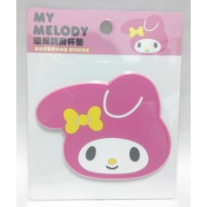 Sanrio my melody cup coaster/insulated/non-slipped mat-deep pink