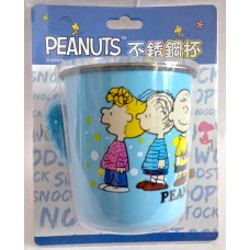Snoopy/Peanuts stainless steel cup/mug-blue
