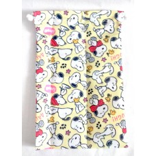 Snoopy/Peanuts drawstring/storage bag/pouch-yellow