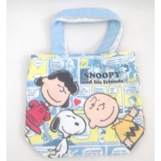 Snoopy/Peanuts tableware/hand bag/tote-light blue