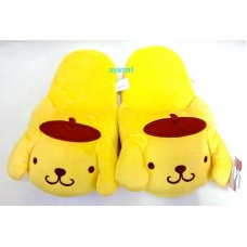 Sanrio Pom Pom Purin/pudding dog push indoor slippers-yellow