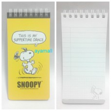 Snoopy/Peanuts mini notebook-yellow