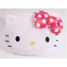 Sanrio Hello kitty plush coin bag/purse w/chain
