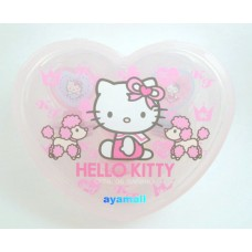 Sanrio Japan Hello kitty heart-shaped case w/stamp