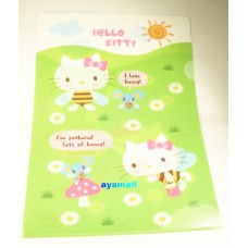 Sanrio Japan Hello Kitty A4 clean file/folder-green