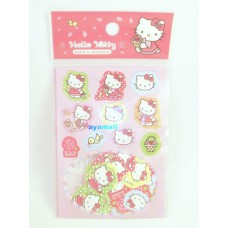 Sanrio Hello Kitty mini 100pcs/10 design stickers w/bag