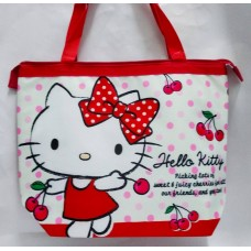 Sanrio Hello Kitty big insulated shopping hand bag/tote-cherry/red