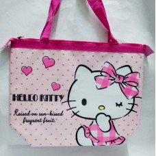 Sanrio Hello Kitty big insulated shopping hand bag/tote-heart/pink
