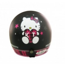 Sanrio Hello kitty open face motorbike helmet-check/black