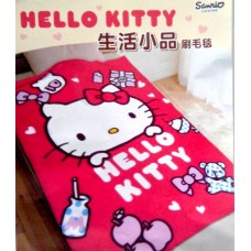 Sanrio Hello kitty fleece blanket for car-apple