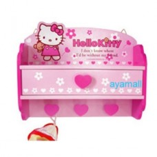 Hello Kitty wooden wall storage rack/drawer/hook