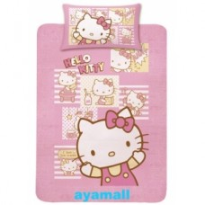 Sanrio Hello Kitty 1xsingle bedsheet+1xpillowcase set