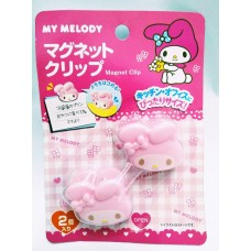 Sanrio Japan my melody head-shaped magnetic clip set/2pcs