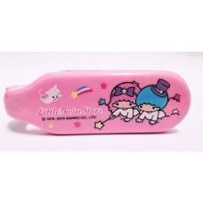 Sanrio Little twin stars/kiki & lala foldable hair brush/comb w/mirror