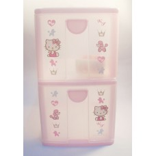 Sanrio Japan Hello Kitty 2-layer storage cabinet/case-dog