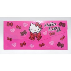 Sanrio Hello Kitty document bag/pouch w/pocket-dark pink