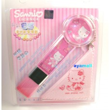 Sanrio Hello Kitty pc cleaner brush w/cloth-france