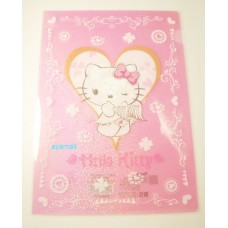 Sanrio Hello kitty A4 clean file/folder-angel/pink