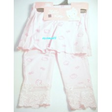 Sanrio Hello kitty cropped pants w/skirt-pink