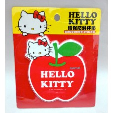 Sanrio Hello kitty apple-shaped cup coaster/insulation mat-red