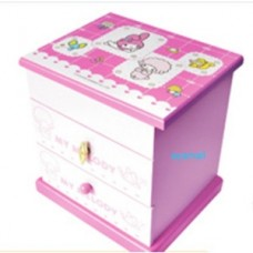 Sanrio my melody wooden music Jewelry case/box w/mirror