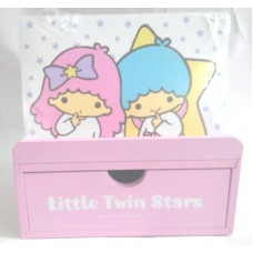 Sanrio kiki&lala/Little Twin Stars wooden storage case/pen holder w/drawer