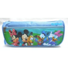 mickey minnie mouse Donald Duck pencil/makeup/cosmetic bag/pouch-blue