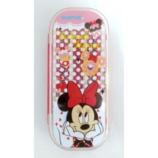 Disney Minne mouse chopsticks+fork+spoon set-red