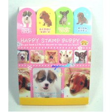 Japan happy stamp puppy/Dog memo pad