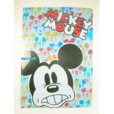 Japan Disney mickey mouse A4 clean file/folder-face-blue/face
