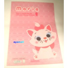Disney Japan Marie cat A4 clean file/folder-Q style
