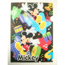 mickey mouse A4 clean file/folder-black