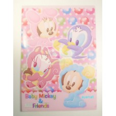 Japan Disney baby mickey/minne mouse A4 clean file/folder-pink